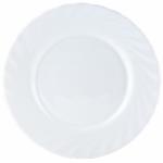 Тарелка столовая, белая, диаметр 19см