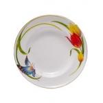 Тарелка столовая (с боковым рисунком) диаметр 19см
